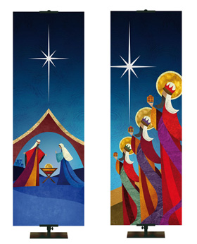 Christmas Scene Banners for Church and Worship