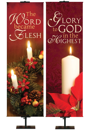 Colors of Christmas Church Banners