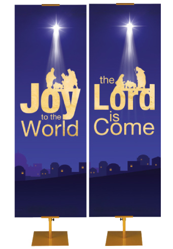 Faux Foil Nativity Banners