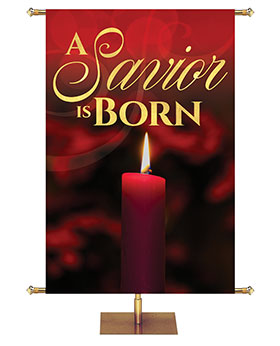 Light of Christmas Candle Banner for Church and Worship