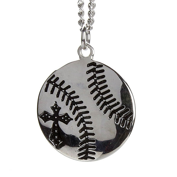 Mens stainless steel baseball necklace sos 20375 mens mens stainless steel baseball necklace aloadofball Gallery