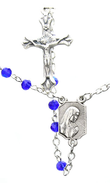 Baby's First Rosary - Sapphire Fire - DSG-32-0792