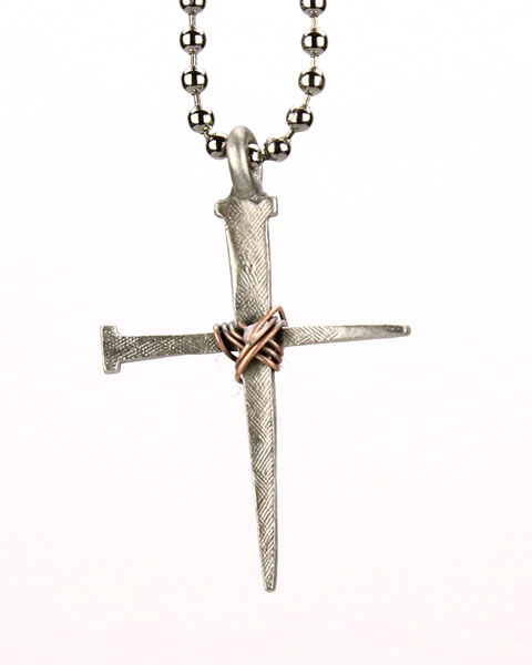 Copper Wrapped Cross Necklace - DSG-32-6305