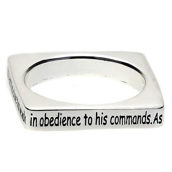 2 John 1:6 Square Ring - X-DSG-35-42JHN16