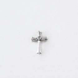 Heart Cross Fleur Pin