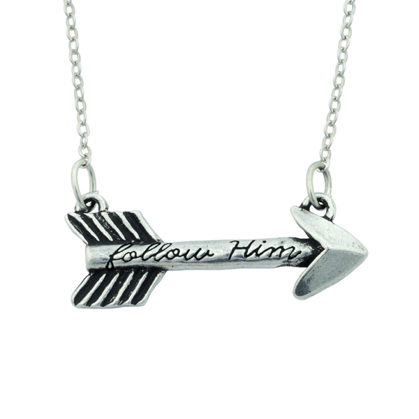 Follow Him Arrow Necklace - BSD-510-329-5695