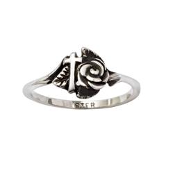 Rose Cross Ring