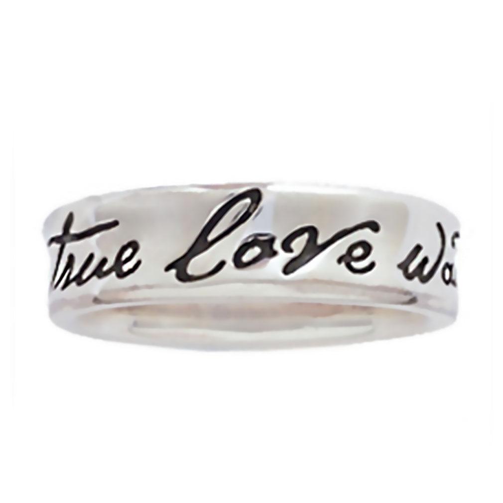 Concaved True Love Waits Ring - BSD-511-824-5710