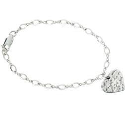 Faith Hope Love Heart Bracelet