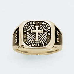 Gold Signet Micah 6:8 Cross Ring