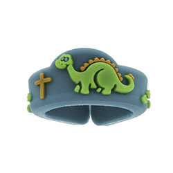 Dinosaur Cross Adjustable Ring