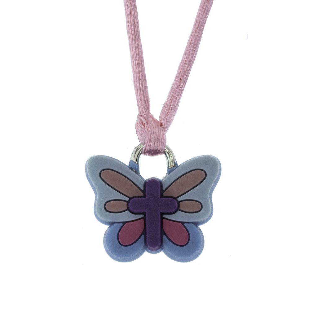 Butterfly Cross Silicone Necklace - BSD-510-328-1627