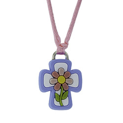 Flower Cross Silicone Necklace