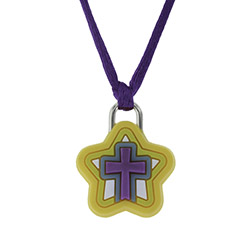Star Cross Silicone Necklace