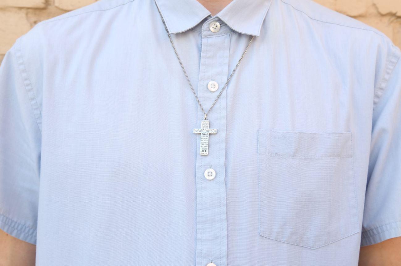 John 3:16 Cross Necklace - BSD-510-329-8082