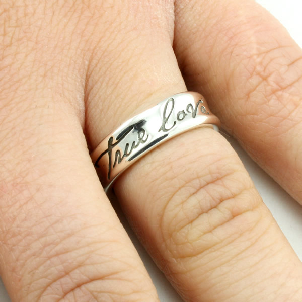 Concaved True Love Waits Ring - BSD-511-824-5710