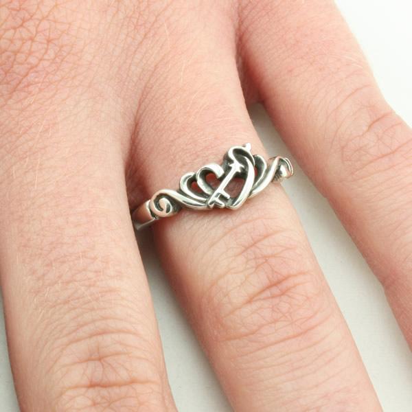 Key and Heart Filigree Ring - BSD-511-823-6312