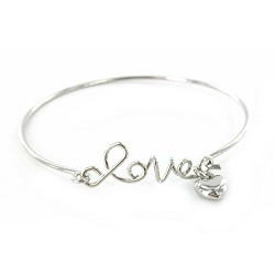 Love the Lord Bracelet - Silver bracelet, love bracelet, love,