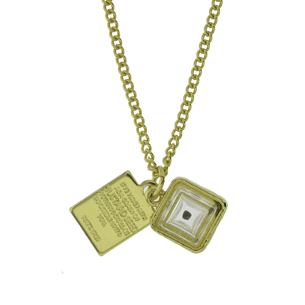 Mustard Seed Necklace Cube In Necklaces Ldsbookstore Cf
