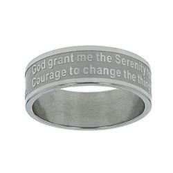 Serenity Prayer Ring Band