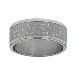 Jeremiah 29:11 Scripture Ring Band