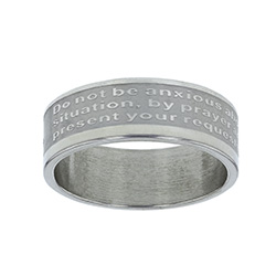 Philippians 4:6 Scripture Ring Band