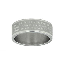Proverbs 3:5-6 Scripture Ring Band