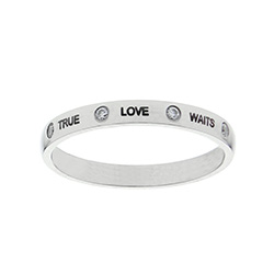 Crystal True Love Waits Ring