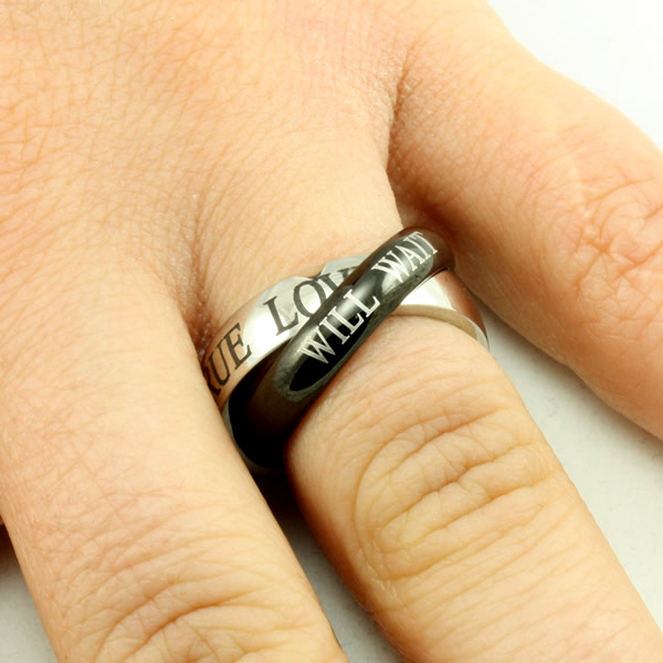 Black and Silver True Love Ring - FJ-RSTL