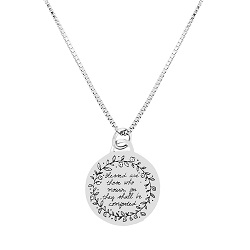 Blessed Are Those Who Mourn Pendant Necklace