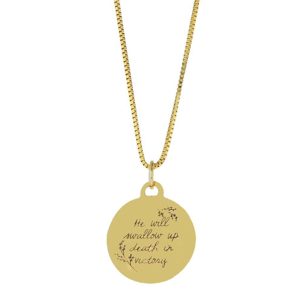 Swallowed Up in Victory Pendant Necklace