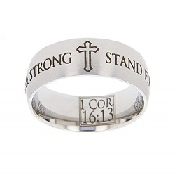 1 Corinthians 16:13 Scripture Ring scripture ring, scripture verse, verse ring, 1 corinthians 16:13, 1 corinthians 16: 13, 1 cor. 16:13, 1 cor. 16: 13, stand firm in faith, be courageous & strong, courage, strength, faith, firm in the faith, firm in faith
