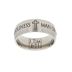 1 Timothy 6:11 Scripture Ring