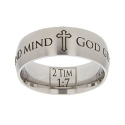 2 Timothy 1:7 Scripture Ring