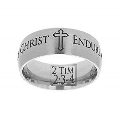 2 Timothy 2:3-4 Scripture Ring scripture ring, scripture verse, verse ring, 2 timothy 2:3-4, 2 timothy 2: 3-4, 2 tim. 2:3-4, 2 tim., endure as a good soldier of jesus christ, soldier, army, endure, 2 Tim. 2:3-4