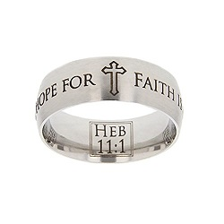Hebrews 11:1 Scripture Ring