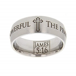 James 5:16 Scripture Ring scripture ring, scripture verse, verse ring, james 5:16, james 5: 16, prayer, pray, the prayer of the righteous is powerful, power, righteous