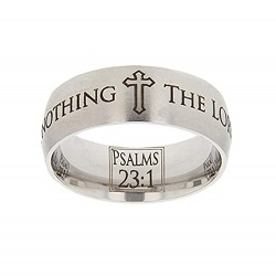 Psalms 23:1 Scripture Ring