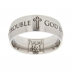 Psalms 46:1 Scripture Ring scripture ring, scripture verse, verse ring, psalms 46, psalms 46:1, ps., God is our refuge and strength in trouble, god is our refuge & strength in trouble, god is our refuge, strength, trouble