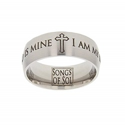 Songs of Solomon Scripture Ring scripture ring, scripture verse, verse ring, songs of solomon, i am my beloveds and my beloved is mine, my beloved, beloved, i am my beloveds