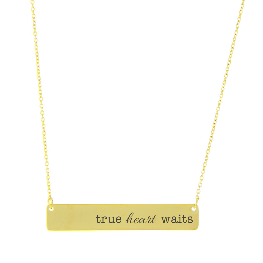 True Heart Waits Bar Necklace - FP-HBN1038