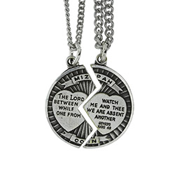 Mizpah Coin 2 Piece Necklace