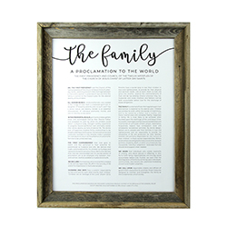 Framed Family Proclamation - Barnwood