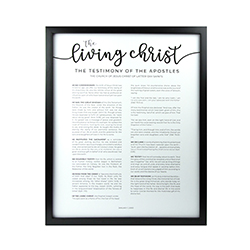 Framed Living Christ - Modern Framed living christ, living christ framed