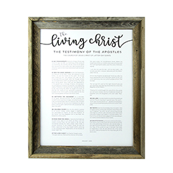 Framed Living Christ - Barnwood - LDP-FR-ART-LIVCHR-BW