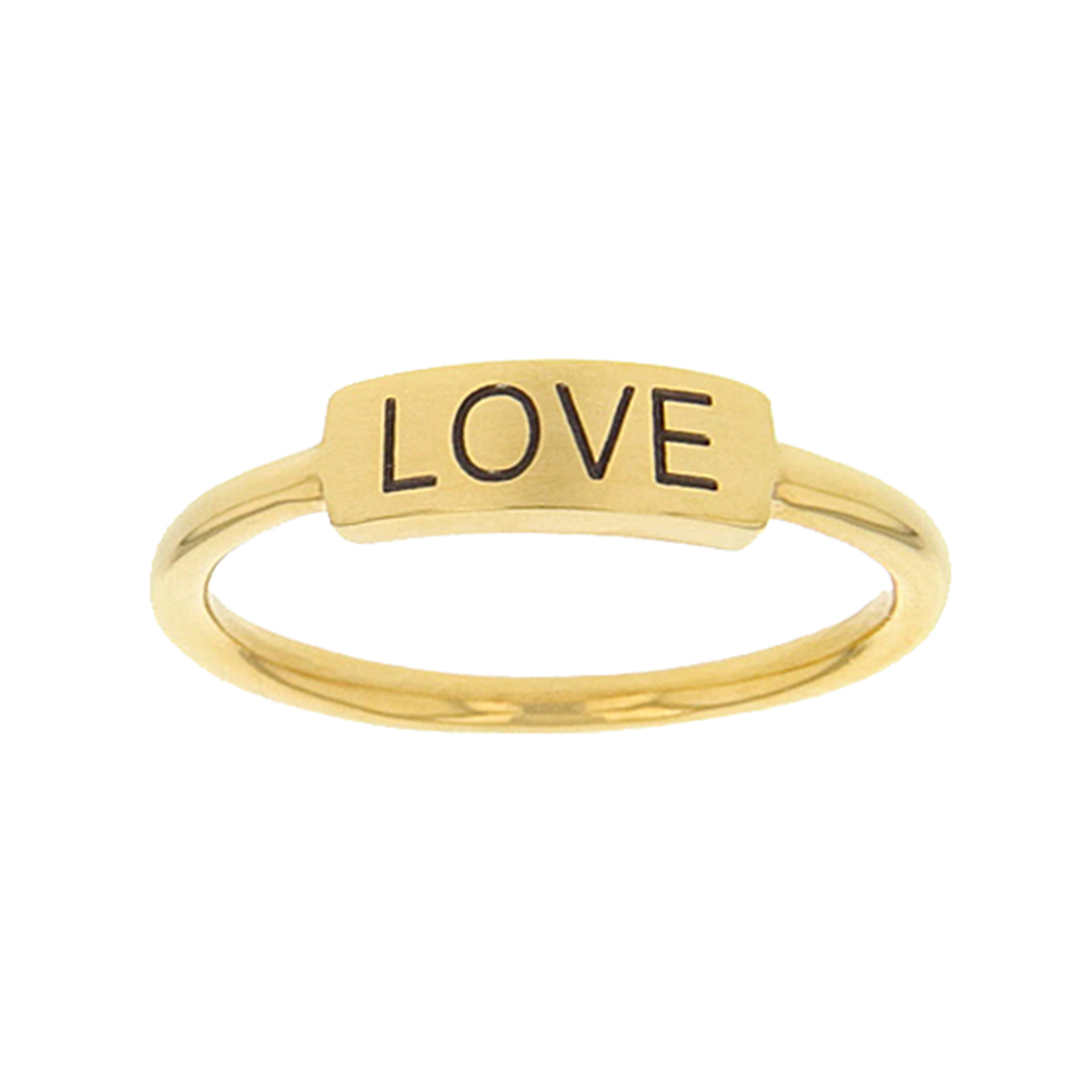 Love Bar Ring bar ring, lds text bar ring