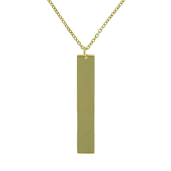 Customizable Vertical Bar Necklace - Gold custom necklace, custom bar necklace, text necklace, antique-looking necklace