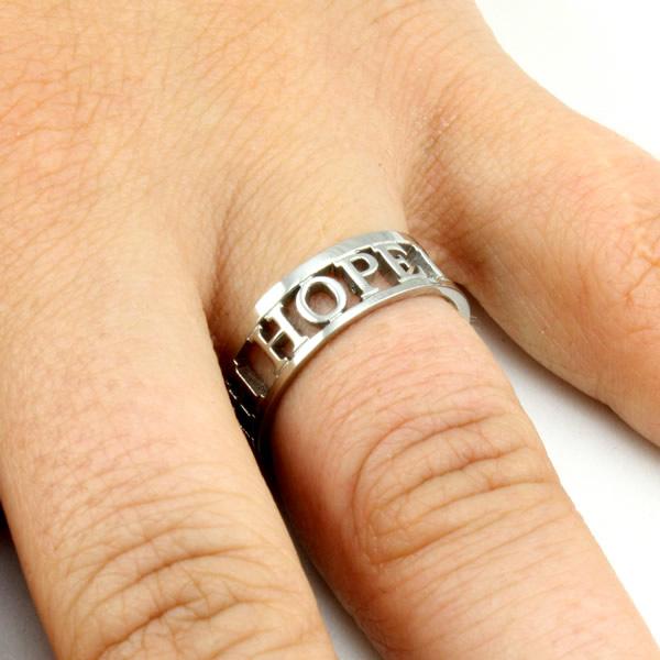 Faith Hope Love Silhouette Ring - ST-MINI SIL FHL