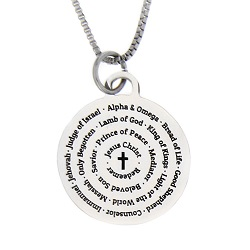 Names of Jesus Necklace - Silver