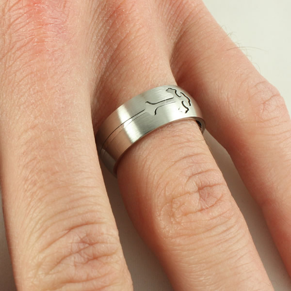 Silver Double Cross Ring - ST-RR42